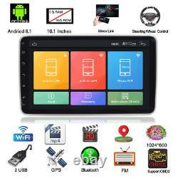 10.1inch Single 1Din Android 9.0 Car Stereo Radio Wifi GPS Navigation Head Unit
