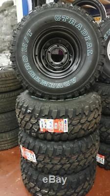 10x15 Discovery 1 Modular Wheels + 33/12.50x15 Gt Mud Terrain Tyres Black