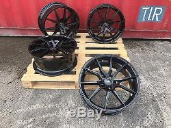 20 Gloss Black Commercial Alloy Wheels Load Transporter T5 T6 5x120