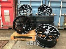 20 Sportline Dtm Style Alloy Wheels + Tyres Vw Transporter T5 T6 T28 Load Rated