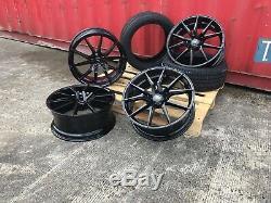 20 Spyder Black Alloy Wheels & Tyres Range Rover Sport Discovery Velar Sport