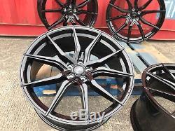 20 Vw t5 t6 Aamrok Alloy Wheels sportline SPYDER Style 5x120 HIGH LOAD BLACK Pe