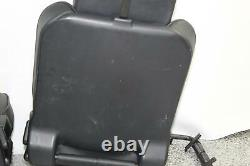 2003 Land Rover Discovery 3rd Row Black Leather Back Rear Seat Set w Headrests