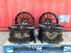 22 Concave Alloy Wheels Fits Range Rover Sport / Discovery / Bmw X5 Black Pearl