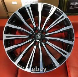 22 Hawke Chayton Alloys Fits Range Rover Vogue Sport Discovery T5 Black Polish