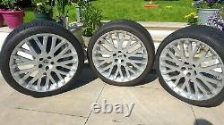 22 Kahn Range Rover Discovery Rs Cosworth Alloy Wheels Used With Tyres X3