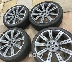 22 Land Range Rover Sport Discovery Stormer Alloy Wheels & Tyres VW 5x120