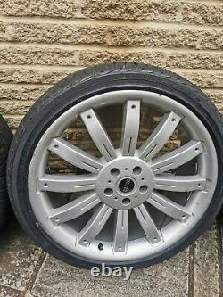 22 Range Rover Land Overfinch Style 5x120 Alloy Wheels Alloys and Tyres