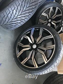 22 Range Rover Style Velar/evoque/discovery Sport 5/108 Wheels & Tyres Set Of 4
