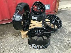 22 Spyder Alloy Wheels Set Tyres Range Rover, BMW X5, X6, AUDI Q7, Q5