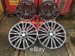 22 Vogue Alloy Wheels Fits Range Rover & Sport L405 L494 L322 Gunmetal