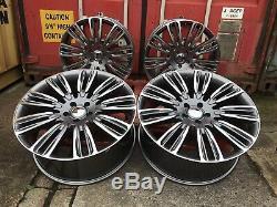 22 Vogue Alloy Wheels Tyres Fits Range Rover & Sport L405 L494 L322 Gunmetal