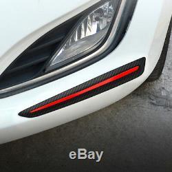 2PCS Car Vehicle Bumper Guard Protector Carbon Fiber Look Strip Trim Accessories