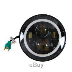 2pcs 7 Inch Round LED Headlight Halo Angle Eyes for 97-2016 JK LJ TJ TJ
