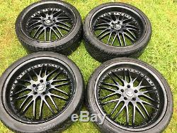 4 X Gloss Black 22 Range Rover Sport Vogue Discovery Svr Alloy Wheels Tyres