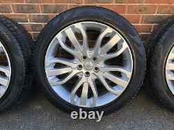 4 X Range Rover Sport Discovery 21 Inch Alloy Wheels With Pirelli Scorpion Tyres