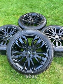 4 x 21 GENUINE LAND ROVER RANGE ROVER SPORT VOGUE DISCOVERY ALLOY WHEELS TYRES