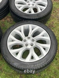 4 x LAND ROVER RANGE ROVER VOGUE SPORT DISCOVERY ALLOY WHEELS PIRELLI TYRES
