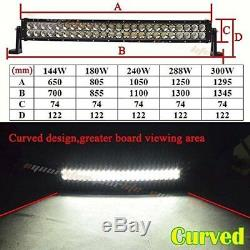 42 Inch CREE Curved LED Light Bar 240W Spot&Flood Beam Truck ATV 4x4 Offroad ATV