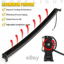 5D 50'' Inch 1560W Curved LED Work Light Bar Flood Spot Combo Offroad Truck Boat