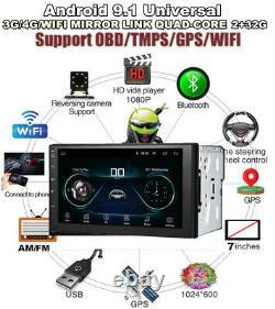 7 Car Stereo Radio Head Unit GPS Navi Double 2 DIN Android 9.1 2+32GB Bluetooth