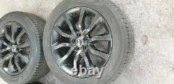 (8)Genuine Range rover sport 20 alloy wheels & tyres vogue discovery black