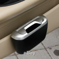 Car Interior Door Slot Garbage Trash Can Rubbish Case Storage Box Accessories