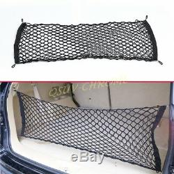 Car Trunk Elastic Mesh Net Cargo Luggage Storage Holder 4 Hooks Accessories
