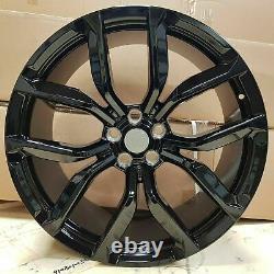 Evoque Discovery Sport Velar x4 20 SVR Style Alloy Wheels Black 5x108