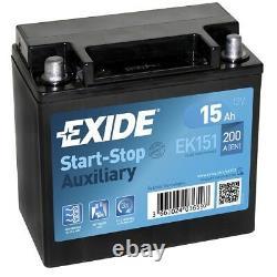 Exide EK151 Start-Stopp Auxiliary 15Ah AGM Stützbatterie