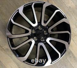Fits Range Rover 22 Turbine Style Alloy Wheels Vogue Sport Discovery Black MF