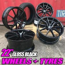 Fits Range Rover Evoque 22inch Alloy Wheels & New Tyres Discovery Sport Black