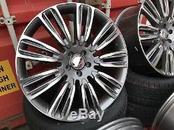 Fits Range Rover Sport 22'' Turbine New Alloy Wheels & New Tyres Gunmetal Pol