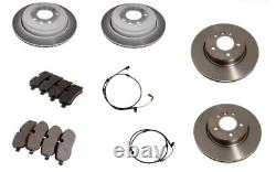 For Land Rover Discovery Front & Rear Break Discs & Pads with Sensors