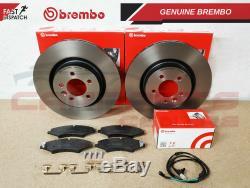 For Range Rover Sport Discovery Mk4 Front Brembo Brake Discs Pads Sensor Kit