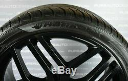 Four Range Rover Sport Style 22 Alloy Wheels Viper Black With 8mm Hankook Tyres