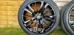 GENUINE RANGE ROVER SPORT HST 20INCH BLACK ALLOY WHEELS+TYRES5mm, DISCOVERY 3/4