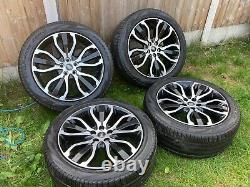 Genuine 21 Range Rover Sport Vogue Discovery Alloy Wheels Pirelli Tyres