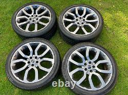 Genuine 22 Range Rover Sport Vogue Discovery Svr Alloy Wheels Conti Tyres