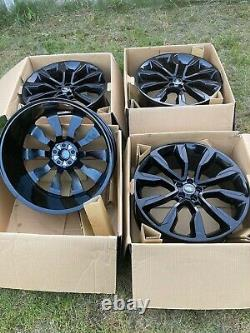 Genuine 22 Range Rover Velar Evoque Discovery Sport Alloy Wheels Gloss Black