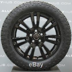 Genuine Land Rover Discovery 4 19inch Black Alloy Wheels+goodyear Wrangler Tyres