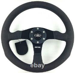 Genuine Momo Competition 350mm steering wheel and hub kit. Land Rover 36 Spline