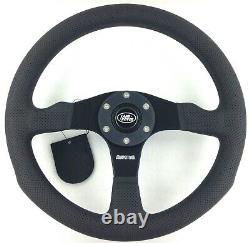 Genuine Momo Competition 350mm steering wheel with hub kit. Land Rover 48 Spline