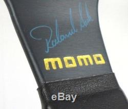 Genuine Momo D35 leather steering wheel. Roland Asch signed edition. RARE! 7A