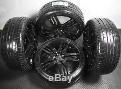 Genuine Overfinch 22 Range Rover / Sport Alloy Wheels & Tyres Piano Black NEW