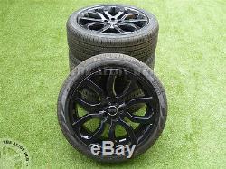 Genuine Range Rover Evoque 20inch Black Alloy Wheels+pirelli 245/45r20 Tyres X4