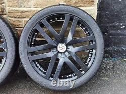 Genuine Revere 22 Wc3 Alloy Wheels & Pirelli Tyres 5x120 Fit Range Rover 5x120