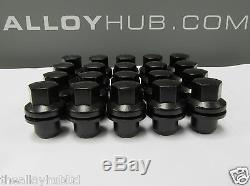 Land Rover Discovery 3/4 Black Coated Wheel Nuts Set X20 Rrd500510 (2004-2015)