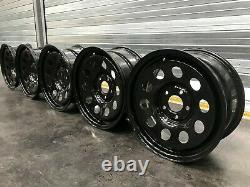 Land Rover Discovery Range Rover VW T6 17 x 8 Black Steel Wheels
