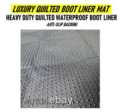 Luxury Heavy Duty Quilted Waterproof Car Boot Liner Mat For RANGE ROVER EVOQUE